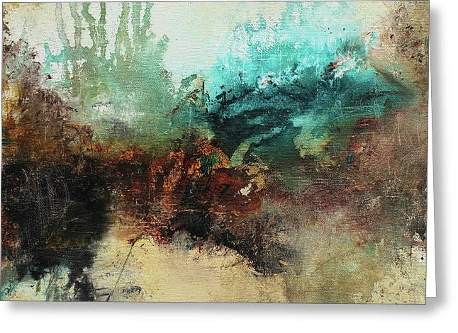 Rich Earth Tones Abstract Not For The Faint Of Heart Greeting Card