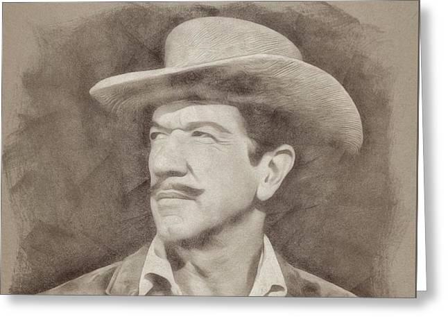 Richard Boone, Actor Greeting Card
