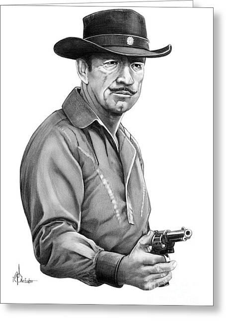 Richard Boone As Paladin Greeting Card
