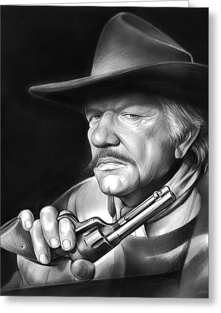 Richard Boone Greeting Card by Greg Joens