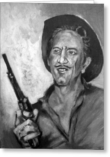 Greeting Card featuring the painting Richard  Boone by Paul Weerasekera