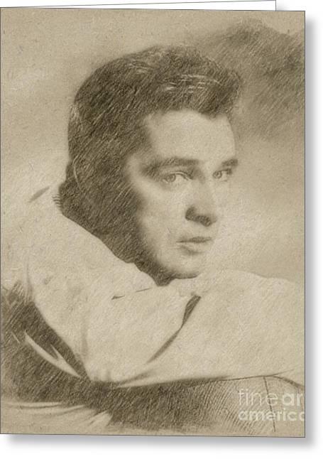 Richard Burton Hollywood Actor Greeting Card by Frank Falcon