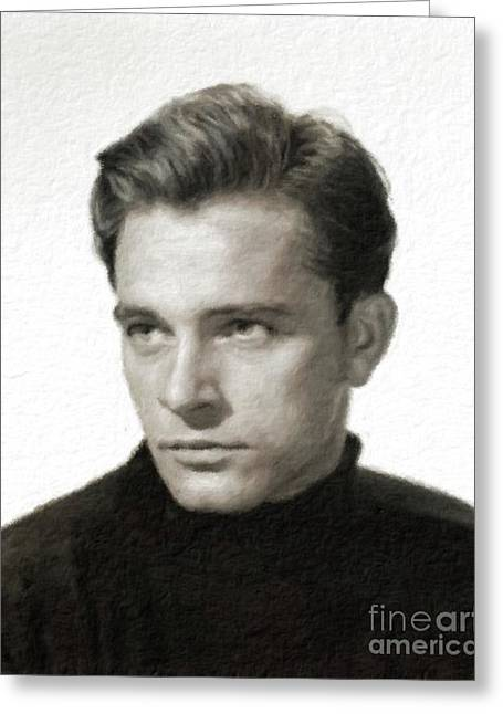 Richard Burton, Vintage Acting Legend Greeting Card