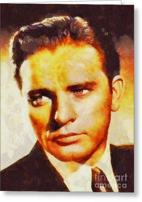 Richard Burton, Vintage Actor Greeting Card