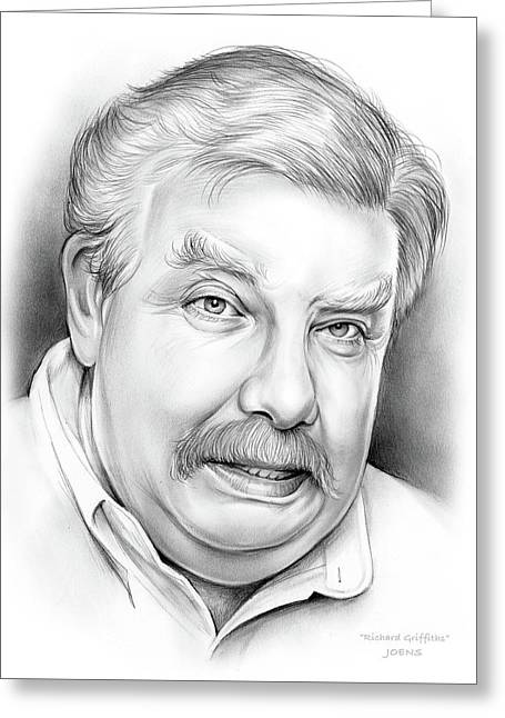 Richard Griffiths Greeting Card by Greg Joens