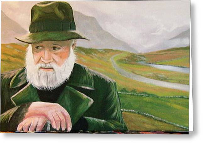 Richard Harris In The Film Called The Field Greeting Card by Cathal O malley