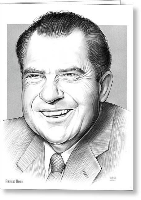 Richard Nixon Greeting Card