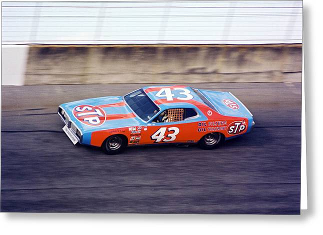 Richard Petty 1977 Daytona 500 Greeting Card by David Bryant