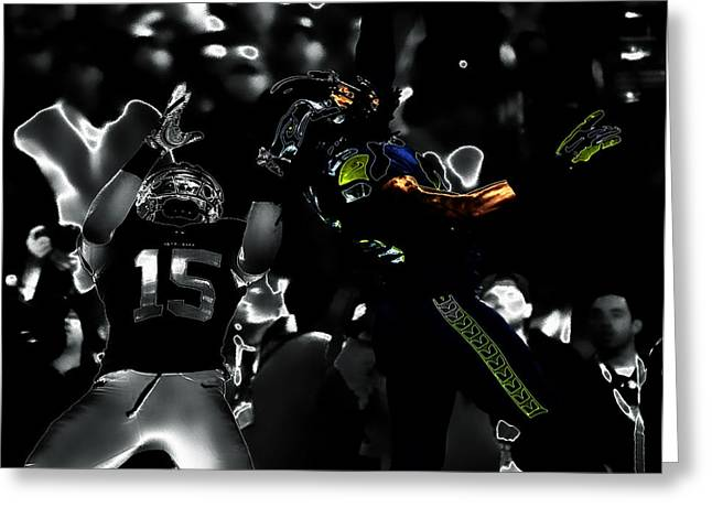Richard Sherman Gimme Dat IIi Greeting Card by Brian Reaves
