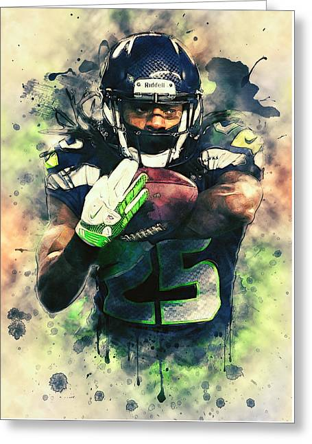 Richard Sherman Greeting Card by Taylan Apukovska