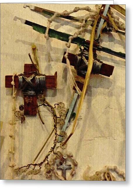 Richard's Crosses Greeting Card by Sarah Loft