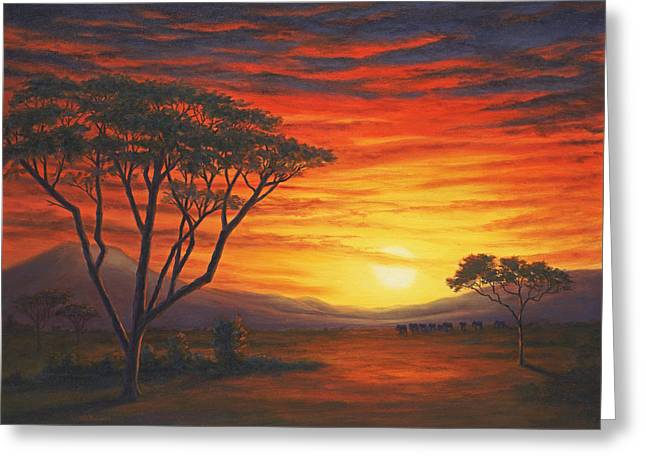 Riches And Beauty, Out Of Africa Greeting Card by Elaine Farmer