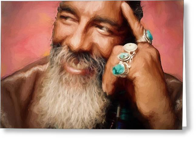 Richie Havens Tribute Greeting Card by Dan Sproul