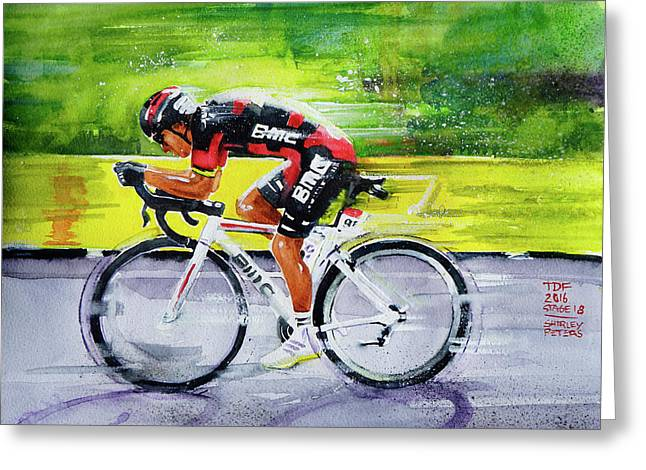 Richie Porte Greeting Card by Shirley Peters