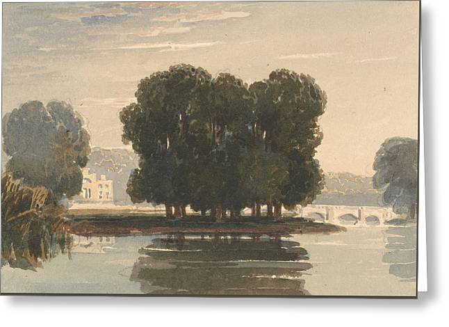 Richmond Bridge Greeting Card by David Cox