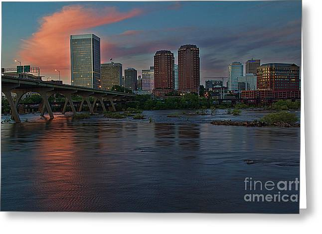 Richmond Dusk Skyline Greeting Card