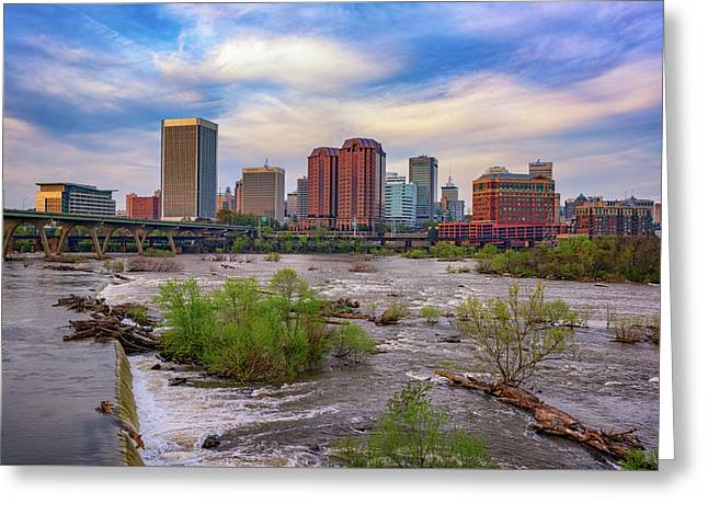 Richmond Skyline Greeting Card by Rick Berk