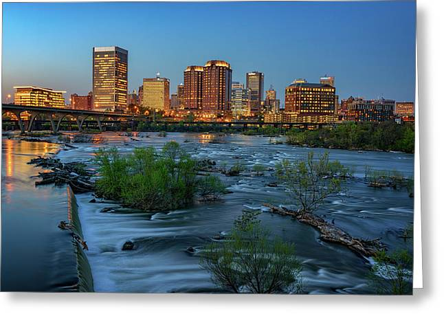 Richmond Twilight Greeting Card