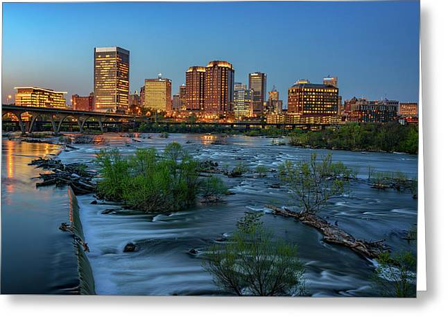 Richmond Twilight Greeting Card by Rick Berk