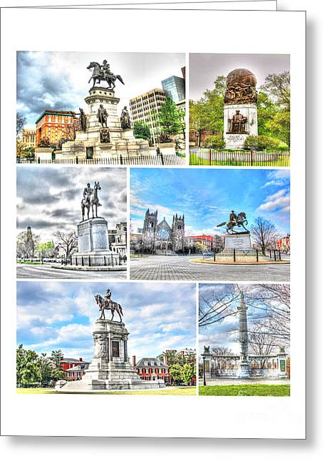 Richmond Va Virginia - Monuments Collage Greeting Card