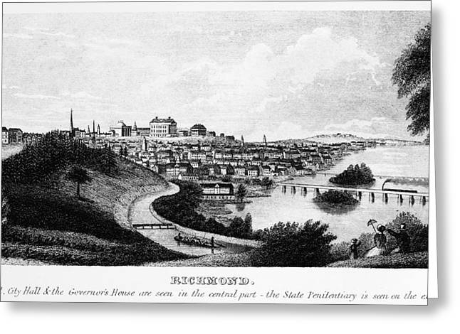 Richmond, Virginia, 1856 Greeting Card by Granger