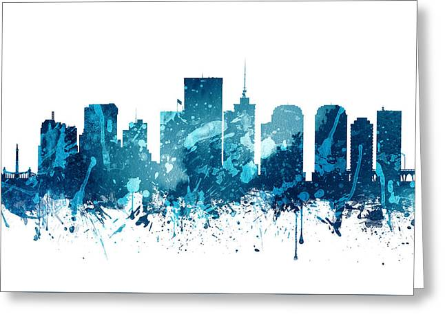 Richmond Virginia Skyline 20 Greeting Card by Aged Pixel