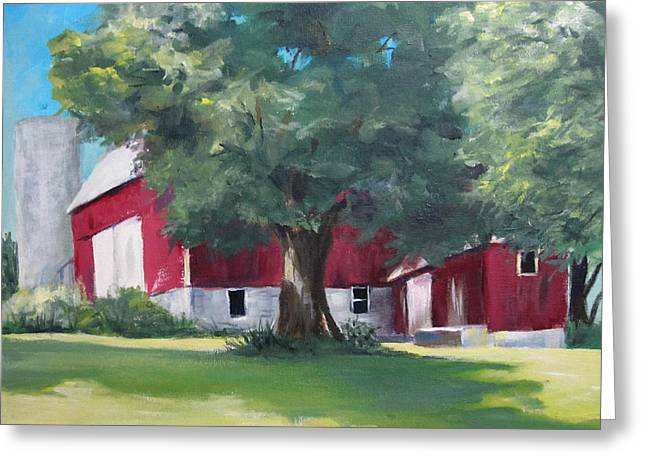 Rich's Barn Greeting Card by Carol Hart