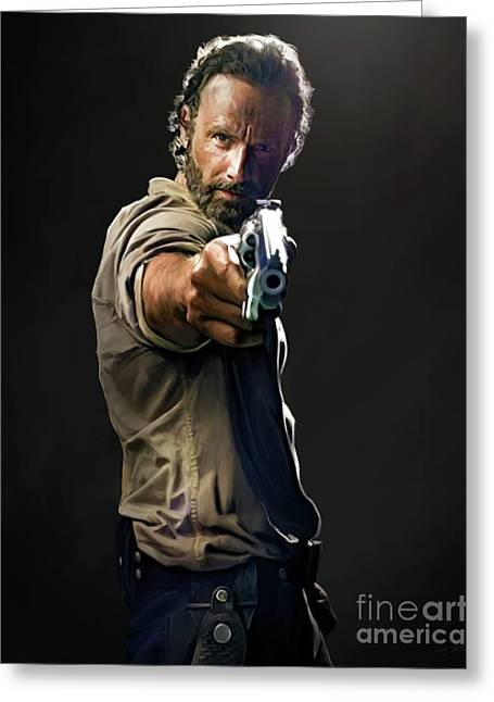 Rick Grimes  Greeting Card by Paul Tagliamonte