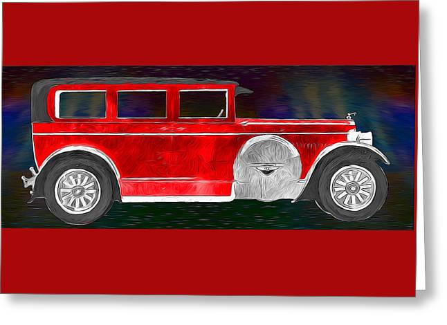 Rickenbacker 1920s Automobile Greeting Card by John Haldane