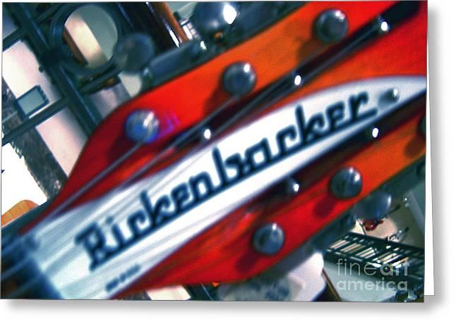 Rickenbocker Greeting Card by Sergio Geraldes