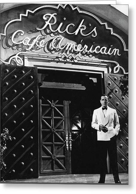 Ricks Cafe Americain Casablanca 1942 Greeting Card by David Lee Guss