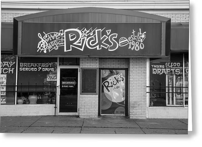 Rick's Cafe East Lansing  Greeting Card