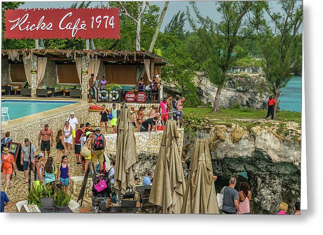 Rick's Cafe In Negril, Jamaica Greeting Card