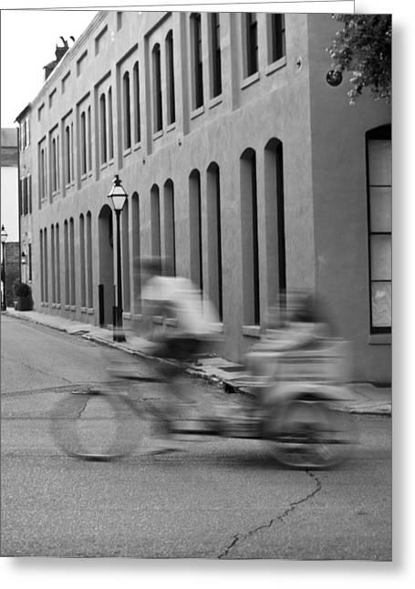 Rickshaw Speed Greeting Card by Dustin K Ryan
