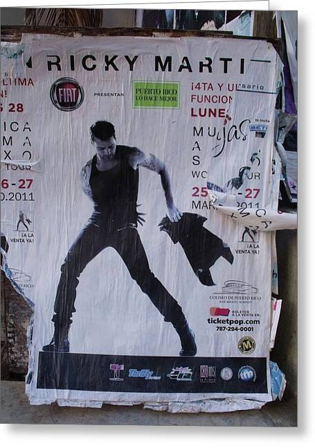 Ricky Martin In Concert Greeting Card by Anna Villarreal Garbis