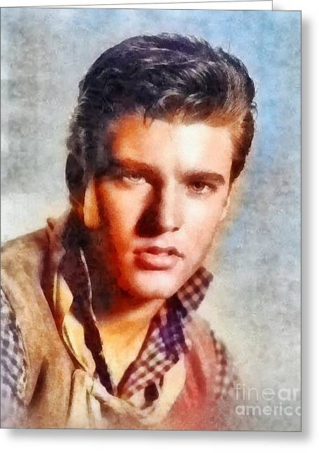 Ricky Nelson, Music Legend Greeting Card by Frank Falcon