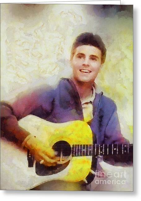 Ricky Nelson, Music Legend Greeting Card by Sarah Kirk
