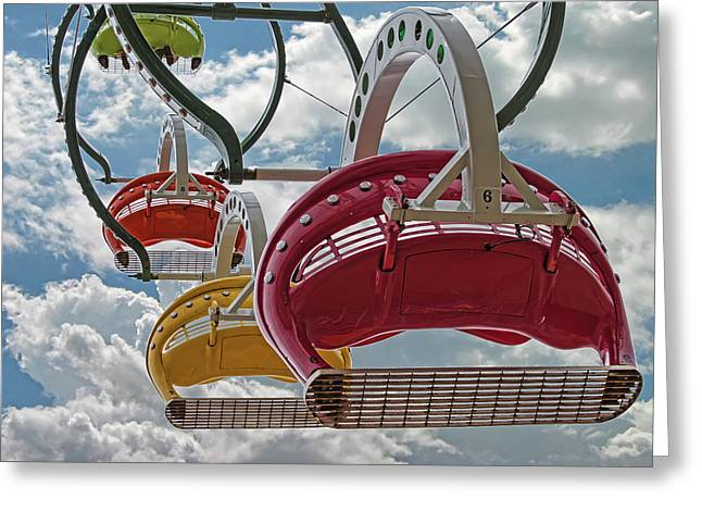 Ride Against The Sky Greeting Card