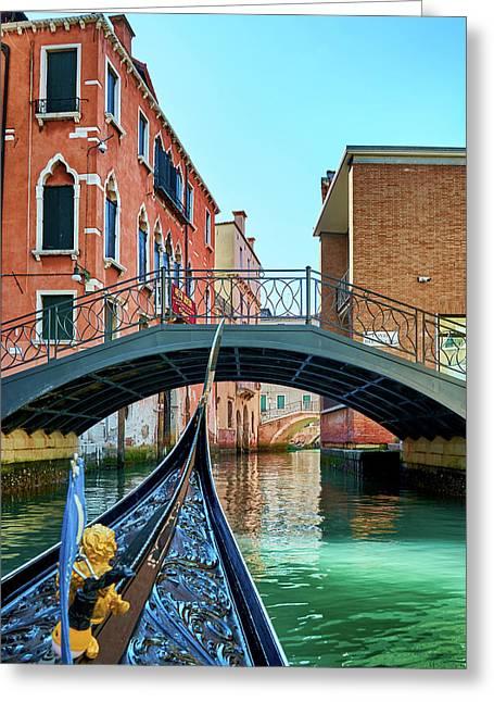 Ride On Venetian Roads Greeting Card