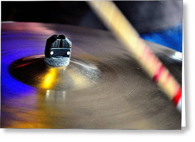 Ride The Cymbal Greeting Card by Charles J Pfohl