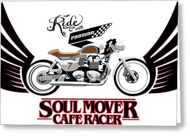 Ride With Passion Cafe Racer Greeting Card