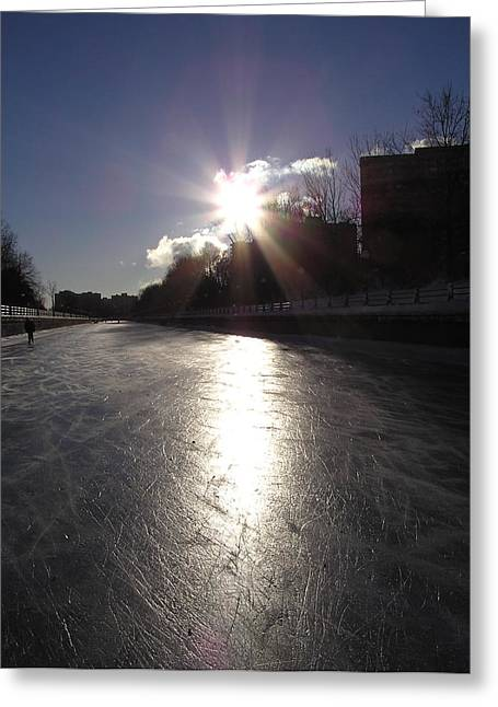 Rideau Canal At Sunrise Greeting Card by Richard Mitchell