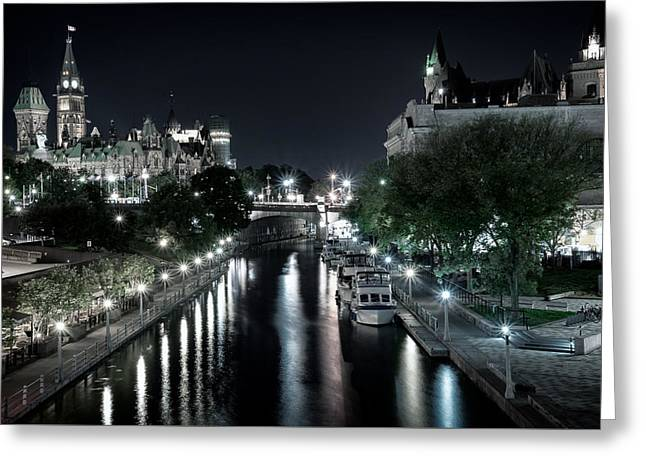 Rideau Canal Darkness Greeting Card