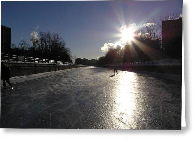 Rideau Canal Greeting Card by Richard Mitchell