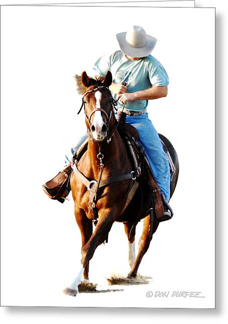 Rider Greeting Card by Don Durfee