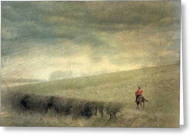 Rider In The Storm Greeting Card