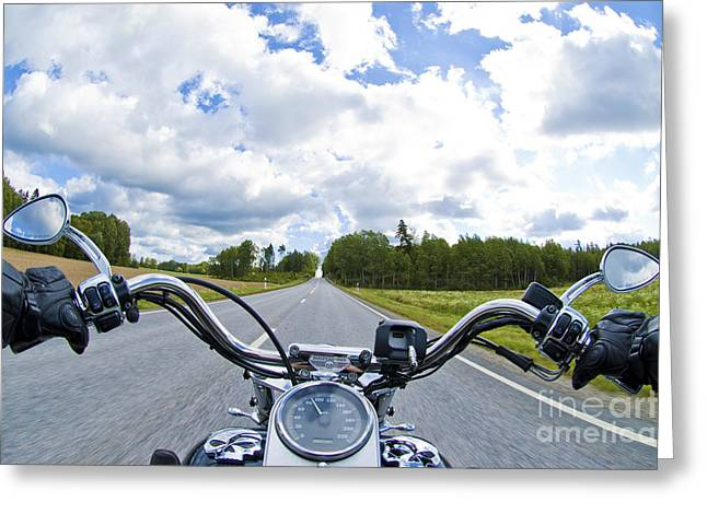 Riders Eye View Greeting Card