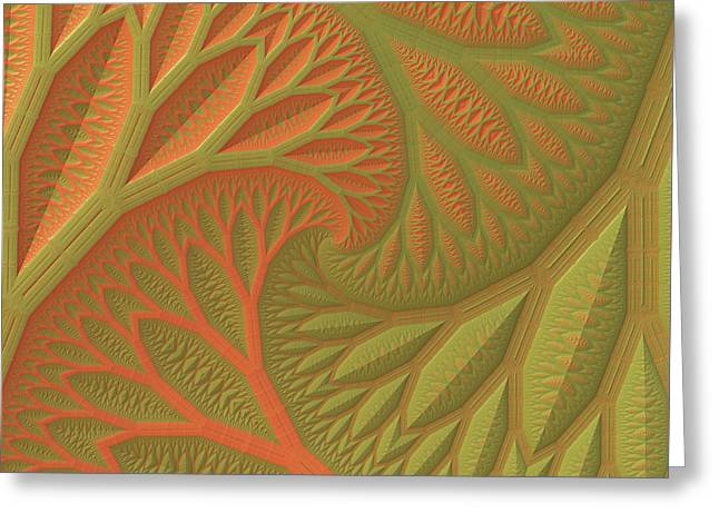 Greeting Card featuring the digital art Ridges And Valleys by Lyle Hatch
