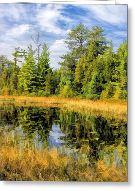 Ridges Sanctuary Reflections Greeting Card by Christopher Arndt