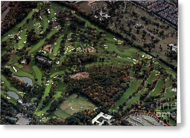 Ridgewood Country Club Aerial Photo Greeting Card